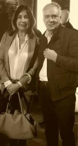 Javier Barroeta con Carmen Martínez-Bordiú