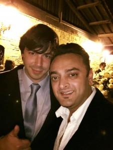 Patricio G. Careaga y DJ Raj durante el banquete