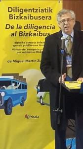 """Miguel Martín, comisario de exposición """"De la diligencia al Bizkaibus"""""""