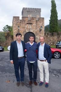 Patricio, Asier Larrucea (alcalde de Galdames) y Koldo Marcilla
