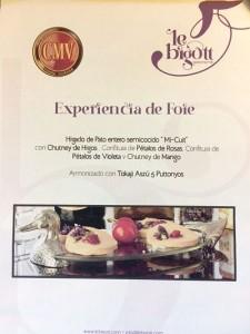 Propuesta gastronómica de Le Bigott