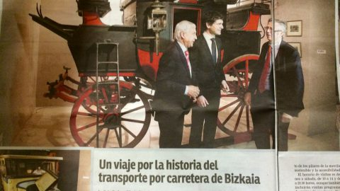 Participación de Torre Loizaga en la exposición «De la diligencia al Bizkaibus»