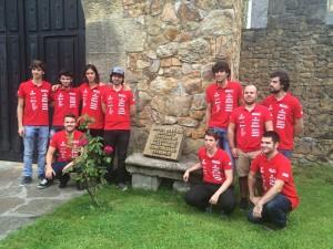 Placa dedicada al Fundador, Miguel de la Vía